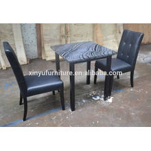 Marble table and leather cover chair XYN210