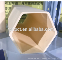 Trou hexagonal grande taille 99.7% tube en céramique d'alumine