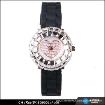 Relógio de pulso de quartzo reluzente brilhante