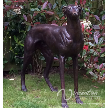Живая жизнь Размер бронзовая статуя Борзого кобеля для крытого украшения