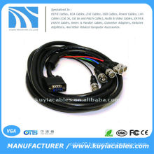 HD15 VGA to 5 BNC RGBHV adapter Cable male to female