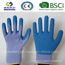 Latex Rubber Gloves, Sandy Finish Safety Work Gloves (SL-R502)