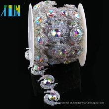 Cristal Cup Rhinestone Applique Aparar Para Nupcial Cristal Sash Wedding Belt
