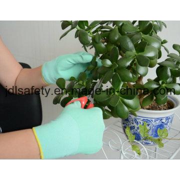 Nylon Color de punto guantes con nitrilo colorido recubierto en Paml (N1569C) de trabajo
