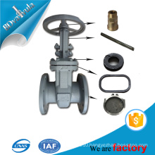 Water supply low pressure gate structure valve in steel / 304 Staniness steel