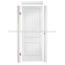 Interior Sala de estar Cuarto de baño Hollow Core Prehung HDF Puerta moldeada, HDF Puerta moldeada