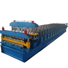 Double layer rolled corrugated steel sheet cold roll forming process machines China machinery