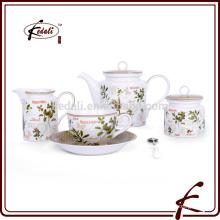 Ванильный дизайн деколь узор прочный фарфор кофе чайный сервиз
