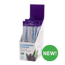 Organic sambucus elderberry powder vitamin C Zinc elderberry on the go stick drink mix