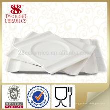Vaisselle en porcelaine portugaise vente chaude, plaque de dîner en céramique blanche en gros