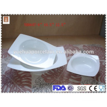 High quality white porcelain salad bowl / fruit bowl