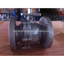 Válvula de esfera de Flange de aço de carbono de qualidade alta
