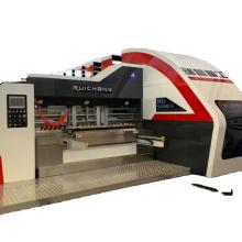 AutomaticPizza Box Printing Machine Corrugated Cardboard Flexo Print Slot Die Cut Equipment China 2020 New Type
