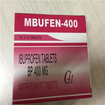Ibuprofeno tabletas recubiertas de azúcar