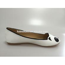 Gilrs Cutalbe linda panda ou qualquer animal impressão arredondado toe flat sapato