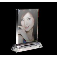 New Design Oval Crystal Gift for Home Decoration Crystal Photo Frame (JD-XK-014)