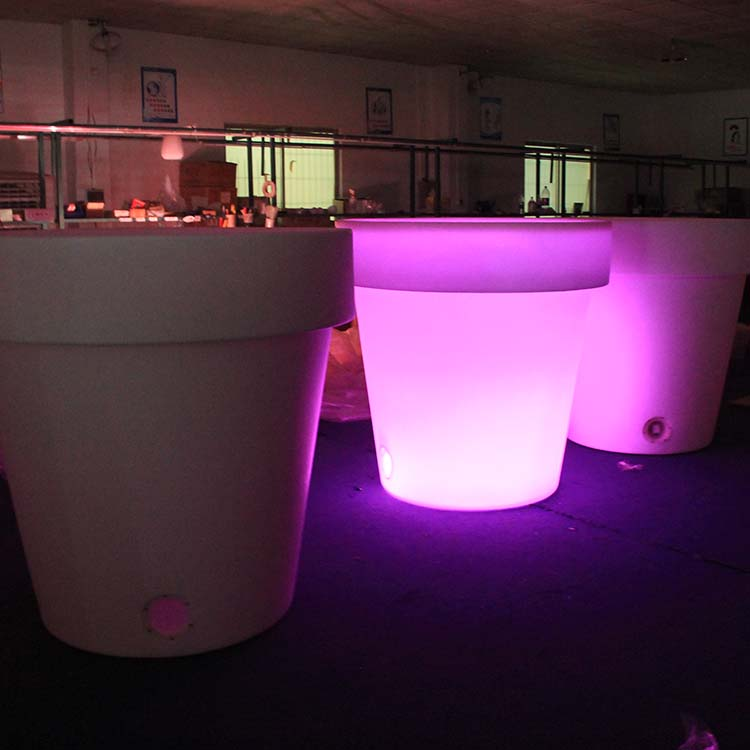 Outdoor Plastic Led Flower Pots
