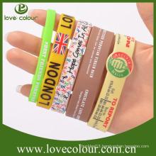 Factory cheap custom silicone bracelet wristbands no minimum