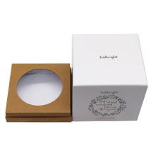 Boîte à bougies chauffe-plat cadeau carrée personnalisée