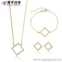 Venta al por mayor de China Xuping venta caliente 14k chapado en oro conjunto de joyas de lujo