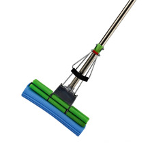 New Products Eco-Friendly Household Telescopic PVA Sponge Squeeze Double Roller Mop