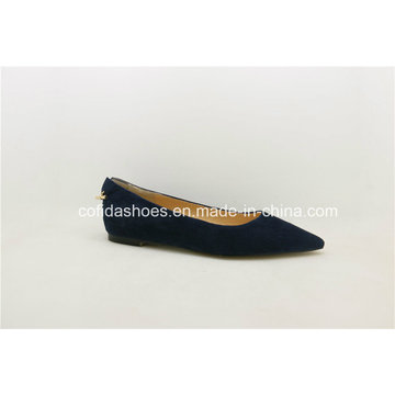 Comfort Pointy Flat Blue Soft Leather Women Shoes