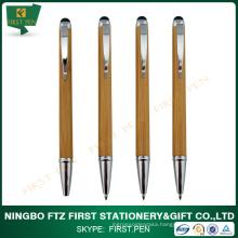 Twist Slim Bamboo Eco Pen With Stylus