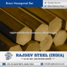 Mantenimiento bajo, barra hexagonal de cobre amarillo de la alta calidad para la venta
