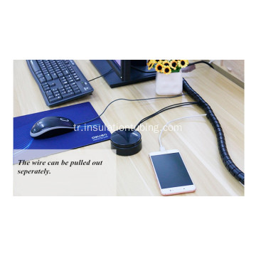 Hot Sale Black Electric Spiral Cable Wrapping Bands