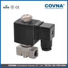 COVNA Electroválvula de actuación directa de micro-aire aire vapor de agua válvula de solenoide de acero inoxidable