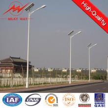 Tubo de luz de calle de energía solar galvanizado cónico