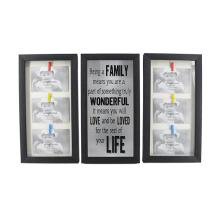 Black Plastic Frame Set for Home Decoration