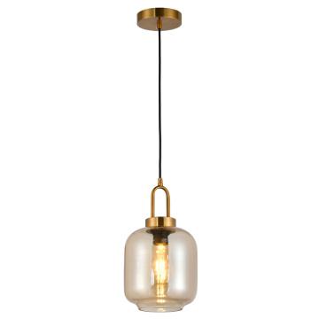 Lámpara colgante de cristal de la lámpara de la pantalla de la vendimia de la venta caliente
