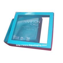 Caixa de papel de embalagem de presente de mesa de alta qualidade com janela de plástico