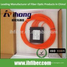 Hochwertige 1 * 8 Multimode FBT Faser Optischer Splitter SC ST FC Stecker OM1 / OM2 / OM3