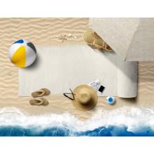 OEM Custom Print High Quality Soft Sand Free Travel Camping 100% Polyester Beach Towel