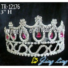 Red Round Custom King y Queen Crown