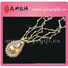 Fashionable Bling Crystal Pendant New Design Woven Wire Necklace