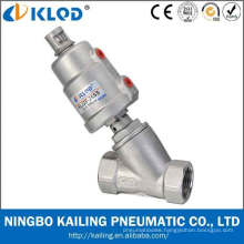 double acting stainless steel angle ball valve KLJZF-15SS
