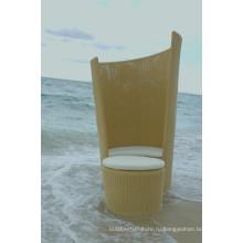 Современный дизайн патио Wicker кровать пляжа Lounge