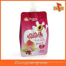 printed stand up liquid food packaging with spout for cocoa oil 300ml 400ml 500ml