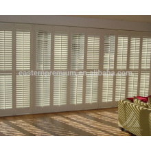 french 89mm louverinterior bi-fold wooden plantation window shutters from china