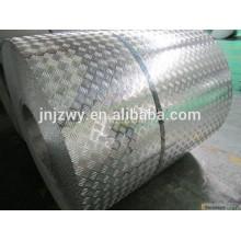5 barres en aluminium gaufré pour anti-glissement