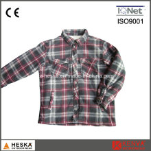 Quilted Casual Men′s Long Sleeved Winter Plaid Shirts