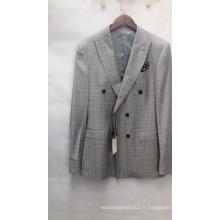 Costumes pour hommes à la mode à double boutonnage italien à col en V