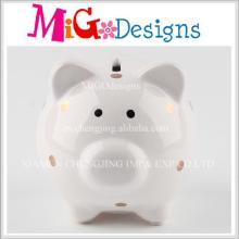 OEM Unbelivable Pig Shaped Ceramic DOT Piggy Banks