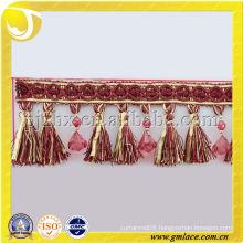 Polyester Tassel Fringe for Shawls Trimming Table Colths
