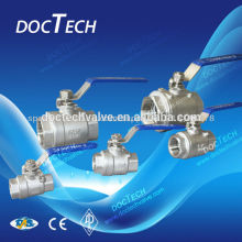 """1"""" SS304/SS316 CF8/CF8M 2pcs female ball valve, 2-pc internal thread ball valve for water,oil and gas"""