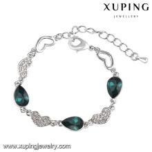 74566 Xuping Fashion Cubic Zirconia crystal From Swarovski Jewelry Bracelet in Rhodium-Plated