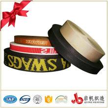 Hot sell custom nylon jacquard cotton elastic webbing tape